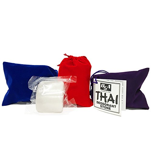 (Thai Deodorant Stone 5.5 Ounces with Velvet Pouch)