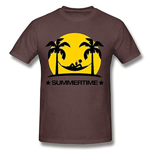 Fengzedid Summertime 2 F2 Women's Short Sleeve Fashion T ShirtSize 4XL Color Chocolate