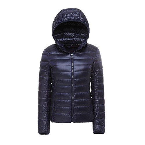 Zipper Jacket Winter XXXL Down Jacket NAVY Coat Dressed Jacket Hooded Jacket tqwSwgfx