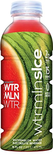 WTRMLNSLCE Watermelon Sports Drink, 16 Ounce Bottle (Pack of 6) Watermelon Water Sports Drink with Electrolytes Potassium L-Citrulline and Lycopene, Pulp-Free No Artificial Sweeteners, No Added Sugar