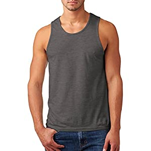 Next Level Men's Rib-Knit Sublimated Muscle Tank Top, 2XL, Dark Heather Gray