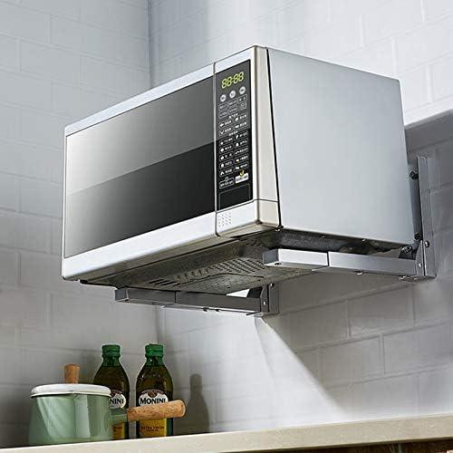 SGLI Colgante De Cocina De Aluminio, Bandeja De Microondas De Pared, Estante For Horno Plegable Retráctil: Amazon.es: Hogar