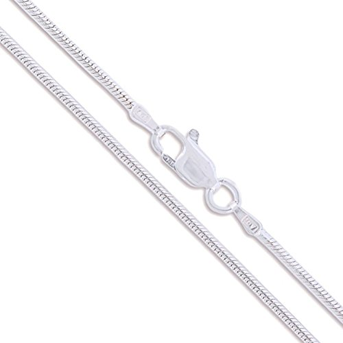 - Sterling Silver Magic Snake Chain 1.6mm Solid 925 Italy Brazilian Necklace 16