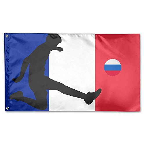 France Flag With Russia Football Home Garden Flags Polyester