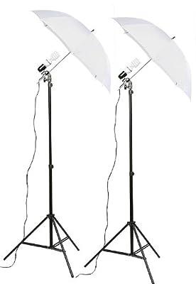 Fancierstudio 2 Light Kit (DK2) Umbrella Lighting Kit, Professional Lighting for Studio Photography, Portrait Lighting and Video Lighting by fancierstudio