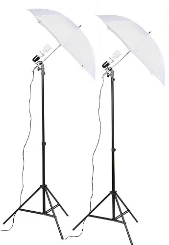 Fancierstudio lighting Kit (DK2) Umbrella Lighting Kit, Professional Lighting for Studio Photography, Portrait Lighting, continuous lighting kit and Video Lighting (Kit Lighting Studio)