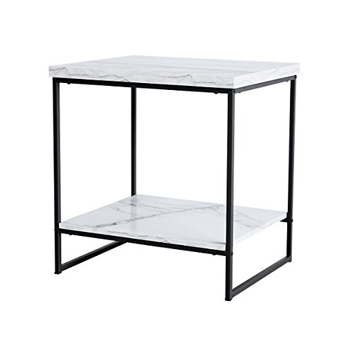 Tilly Lin Faux Marble Side Table, Water Resistant Accent End Table with Lower Shelf for Living Room, Bed Room by Tilly Lin