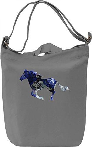 Colourful Horse Borsa Giornaliera Canvas Canvas Day Bag| 100% Premium Cotton Canvas| DTG Printing|