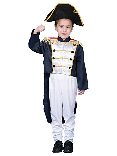 Colonial America Costumes Kids (Children's Colonial General Costume Set, Medium)