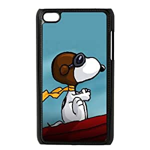 iPod Touch 4 Case Black Charlie Brown and Snoopy holj