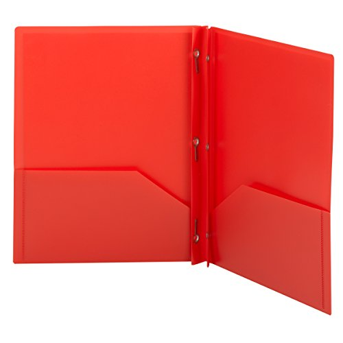 Red Pocket Folder With Fasteners Amazon Com