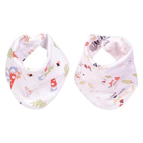 Trend Lab Woodsy Gnomes 2 Pack Reversible Flannel Bandana Bib Set ()