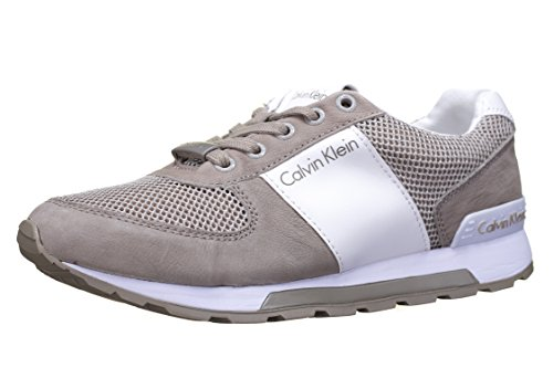 nubuck washed Chaussures Calvin Dusty gymnastique Smoot Klein homme beige de Mesh nFAn6Itxq