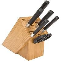 Juego de cuchillos con bloque Wasabi Black de 7 piezas de Kai Ltd