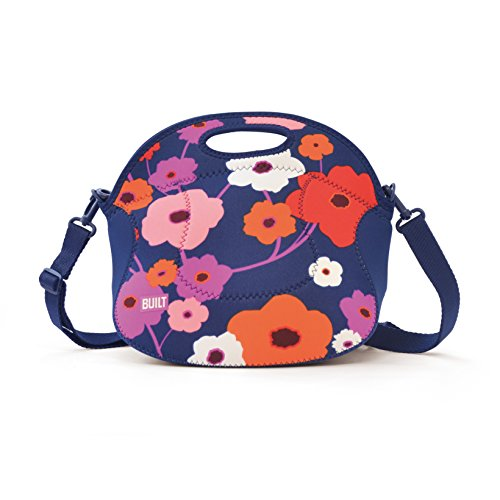 Flowers Relish - Built NY LB12-LSH Spicy Relish Neoprene Lightweight Insulated Lunch Bag with Adjustable Crossbody Strap, Lush Flower