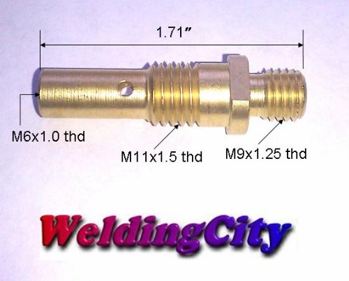 WeldingCity 2-pk Gas Diffusers 35-50 for Lincoln Magnum 100L and Tweco Mini/#1 MIG Welding Guns