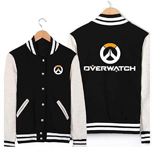 Xfang Mens Baseball Uniform Black Adult Cosplay Sweatshirt Costume (XL) (Overwatch Game Of The Year Edition Upgrade)