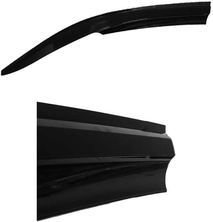 accessorypart D/éflecteurs dair D/éflecteurs de Vent pour Iveco Daily 2006-2014 Avant 2 pi/èce Pluie Soleil Fum/ée Protection Noir