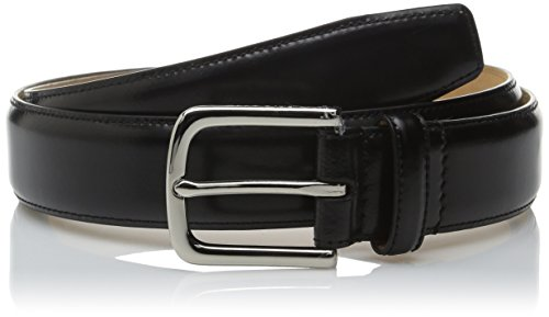 Cole Haan Men's 35-mm Spazzolotto Belt, black Polished Nickel, 40