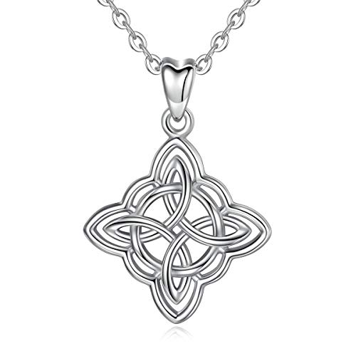 - INFUSEU Irish Celtic Knot Pendant Necklace 925 Sterling Silver Jewelry for Women (Cross Infinity Knot)