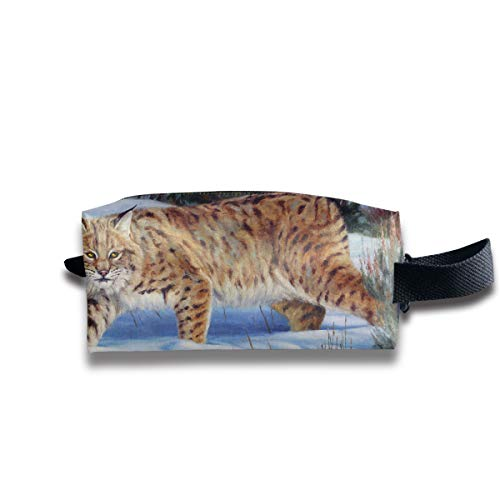 Clash Durable Zipper Wallet Makeup Handbag With Wrist Band Snow Day Tiger Toiletry Bag -