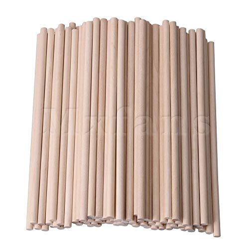 Architectural Model Supply - Part & Accessories Mxfans 15cm Length 5mm Dia Round Birch Wood Sticks Wooden Dowel Rods for Lollies Craft Building Architectural Model Pack of 100