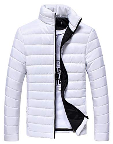 Puffer Packable White Collar Fashion Lightweight Jacket Down Coat Stand TTYLLMAO Mens Quilted qp47Fzw