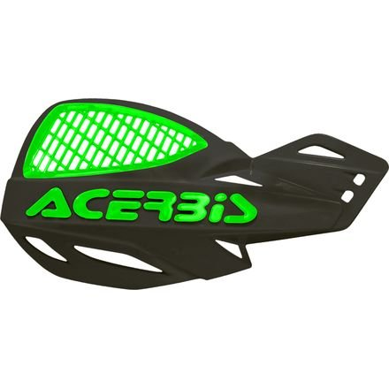 Acerbis Uniko MX Vented Handguards (BLACK/GREEN)