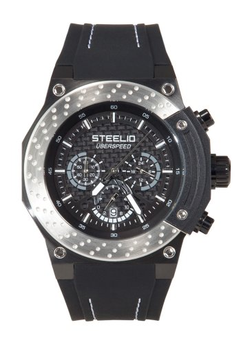 Steelio Men's Überspeed Retrograde Chronograph (Steel-Black)