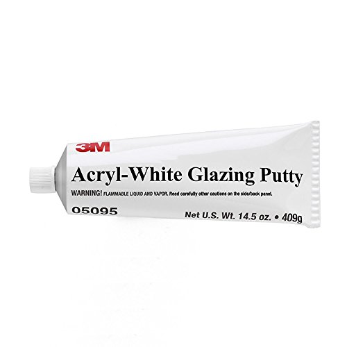 Glazing Putty (3M 05095 Acryl-White Putty Tube - 14.5 oz.)