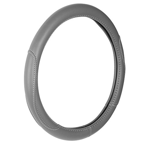 (Custom Accessories 38854P Grey Leatherette Steering Wheel Cover)