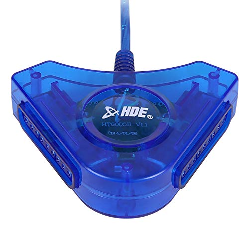HDE PSX PS2 USB Dual Controller to PC Adapter Converter ()