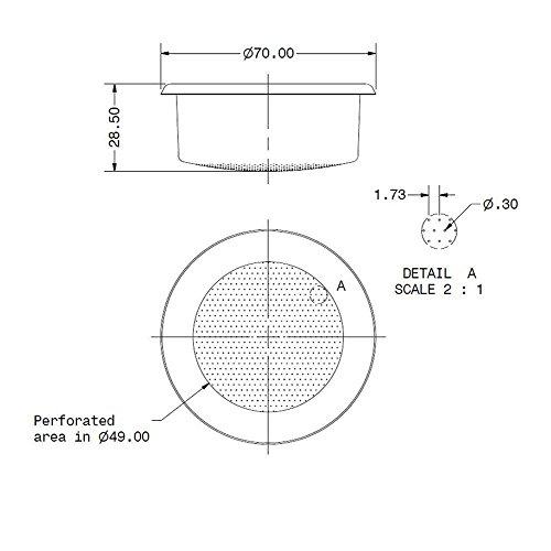IMS competencia E-61 precisión Filtro ridgeless cesta 18/22 ...