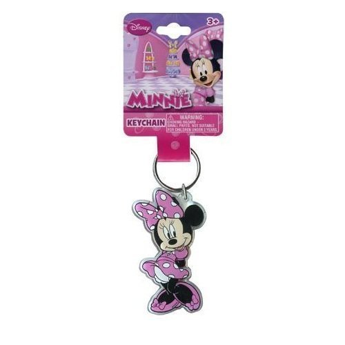 Disney Minnie Mouse Keychain- Lucite Shaped Key Chain(MM344)