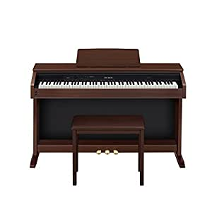 casio ap250 celviano 88 key digital piano with bench oak brown musical instruments. Black Bedroom Furniture Sets. Home Design Ideas