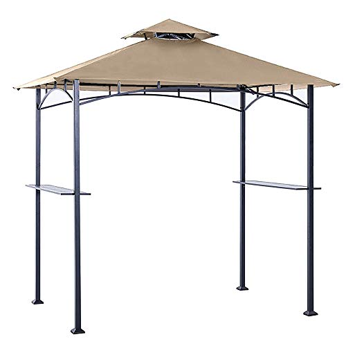 ABCCANOPY Grill Shelter Replacement Canopy roof ONLY FIT for Gazebo Model L-GZ238PST-11 (Beige) (Replacement Gazebo Covers)