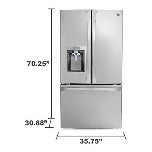 Kenmore Smart 75043 24 cu. ft. French Door Bottom-Mount Refrigerator in Stainless Steel - Works with Amazon Alexa, includes delivery and hookup (Available in select cities only) by Kenmore (Image #3)