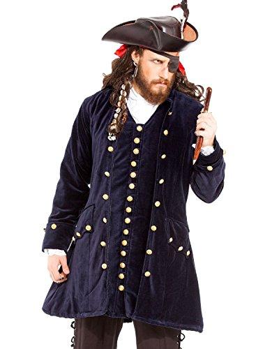 Pirat Mittelalter Renaissance Captain WORLEY Coat Jacke Kostüm [C1421]