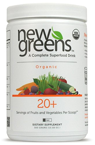 Juice Fruit Antioxidant (New Greens | Organic Green SuperFood Powder | 44 Active Ingredients | Green Smoothie Drink w/ Organic Fruit Juice + Antioxidant, Fiber & Detox Vegetable Blends | Mint | Non-GMO, Vegan & Gluten Free)