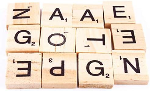 Wooden Letter - 100pcs Set Wooden Letters Alphabet Tiles Black Scrabble Numbers - Tile Splash Decor Decorative Automation Finder Tracker Slim Home White Cover Hexagon Black: Amazon.es: Bricolaje y herramientas