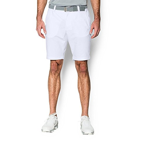 Under Armour Men's Match Play Tapered Shorts, White/White, 40