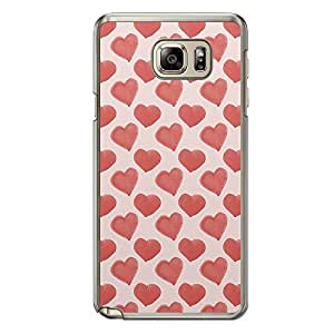 Loud Universe Samsung Galaxy Note 5 Love Valentine Printing Files A Valentine 85 Printed Transparent Edge Case - Pink