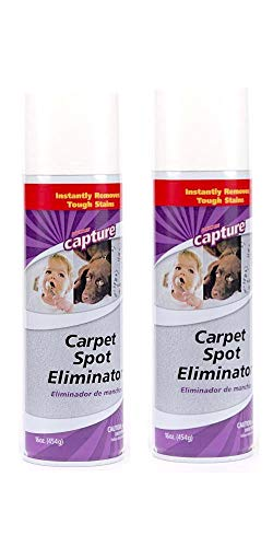 Capture Carpet Spot Eliminator-2 Pack_Treatment For Any Stain Including Grease and Oil Based Stains, Ink, Makeup, Lipstick, Carpets and Furniture (Capture Rug And Carpet Cleaner)