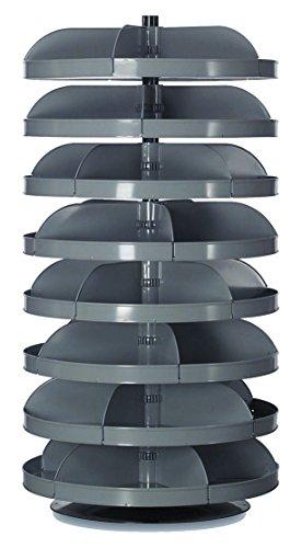 Durham - 1308-95 - 65-1/2 Steel Revolving Storage Bin with 500 lb. Load Cap. per Shelf, Gray by Durham