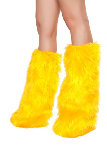 Roma Costume Faux Fur Boot Covers, Yellow, One Size -