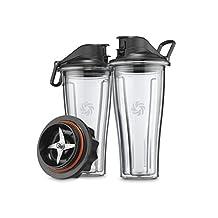 Vitamix 62850 Blending Cups Starter Kit, Clear