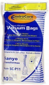 Sanyo Transformax Vacuum Bags Microfiltration with Closure - 10 Away
