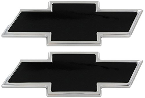 All Sales 96127KC Ami Chevy Bowtie Grille and Tailgate Emblem, Chrome/Powder Coated Black (Pack of 2)
