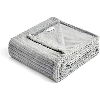 FFLMYUHUL I U Fuzzy Throw Blanket with Super Soft and Warm Throw Flannel Blanket 50'' X 60'' Gray
