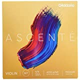 D'Addario A310 4/4M Ascente Violin String Set, 4/4 Scale, Medium Tension